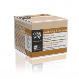 Oliveway fugtgivende - og beskyttende BB ansigtscreme