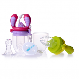 KIDSME FOOD FEEDER SET Pink/Lime