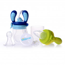 KIDSME FOOD FEEDER SET Aquamarine/Lime