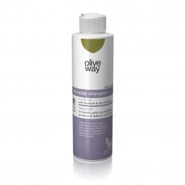 Oliveway shampoo til tør hovedbund og  fedtet hår