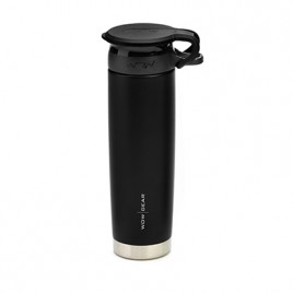 WOW Sports bottle BLACK 650ml stainless steel